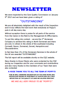Poppys Homecare Newsletter